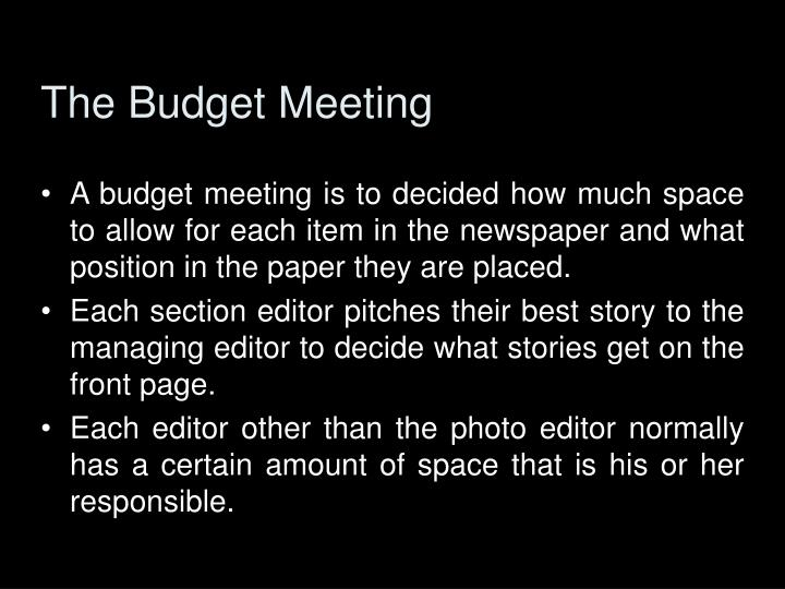 The Budget Meeting