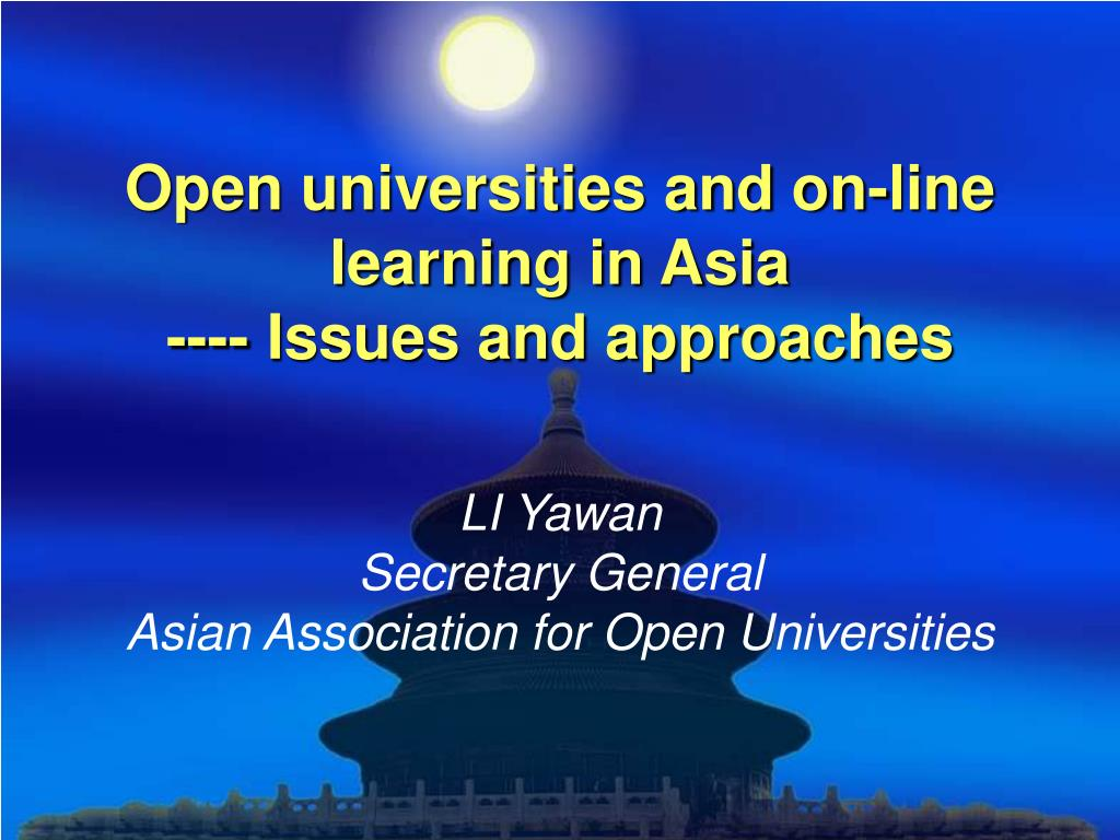 open universities and on line learning in asia issues and approaches l.