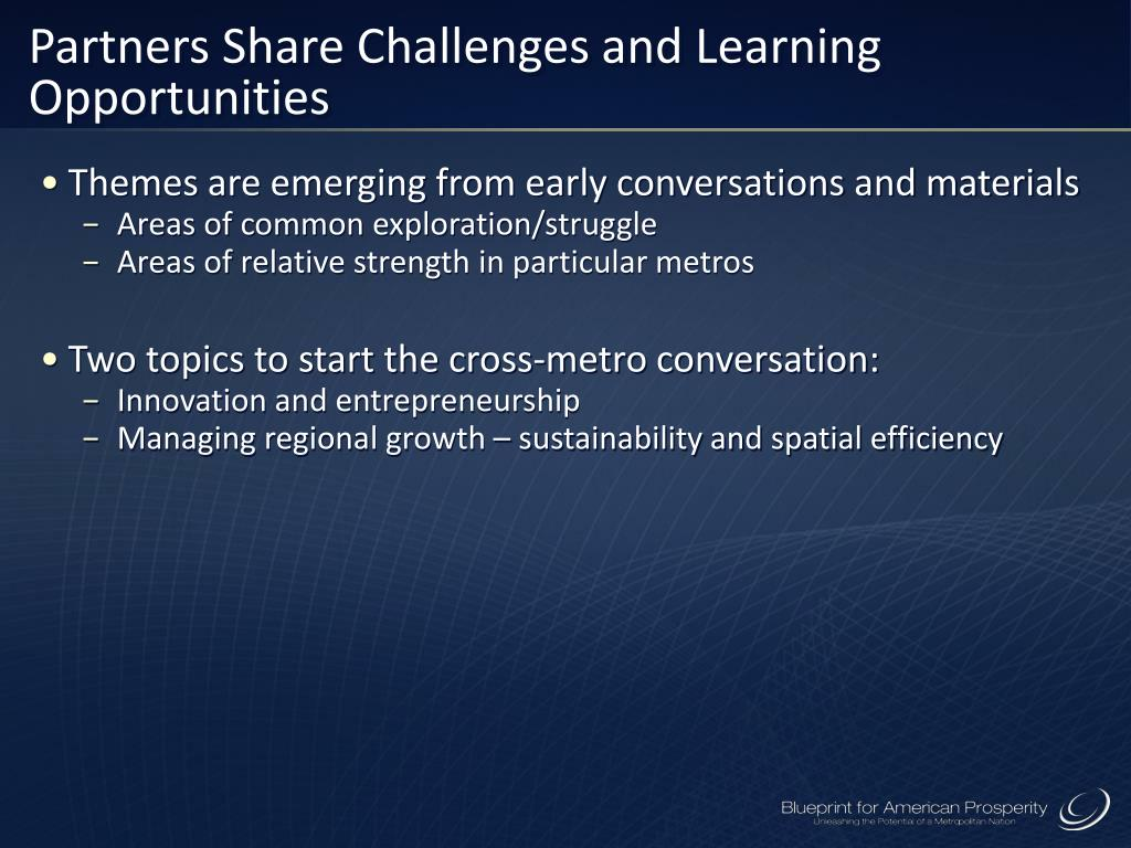 Partners Share Challenges and Learning Opportunities
