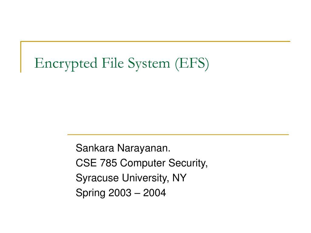 encrypted file system efs l.