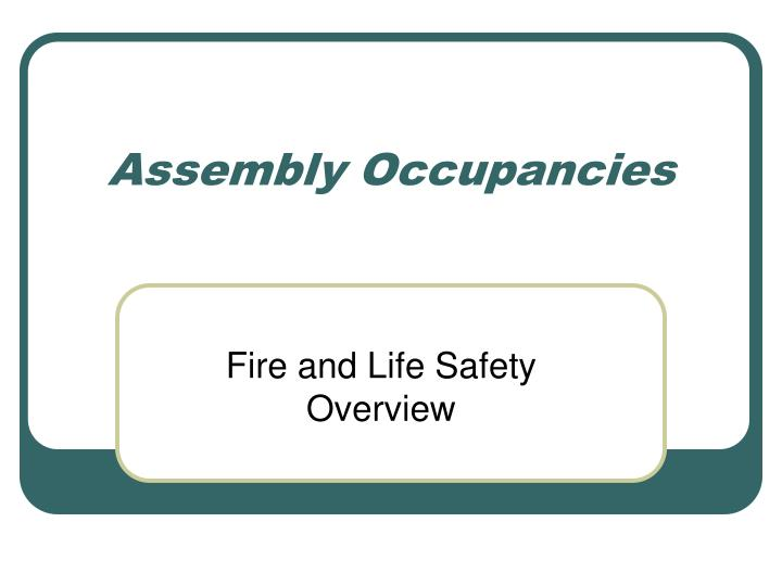 assembly occupancies n.