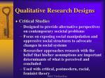 qualitative research designs11