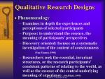 qualitative research designs9