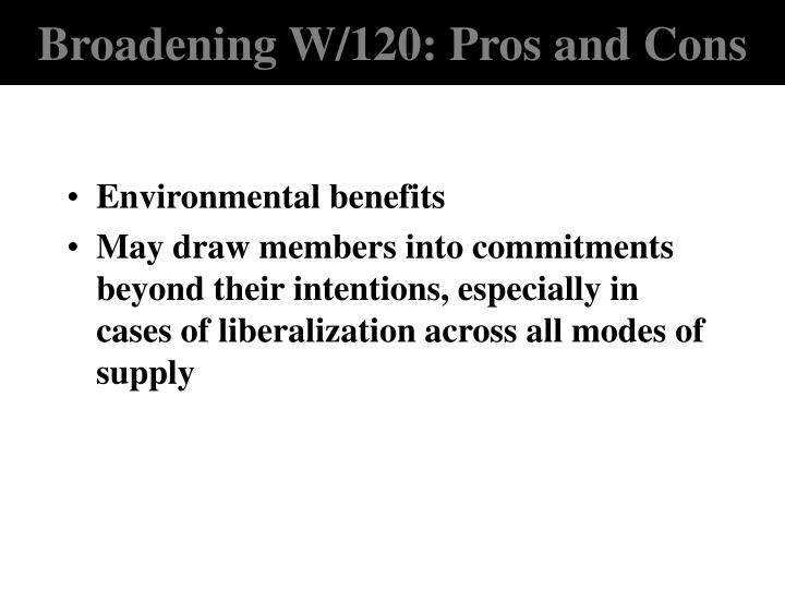Broadening W/120: Pros and Cons