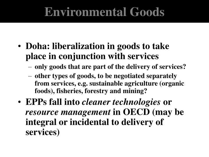 Environmental Goods