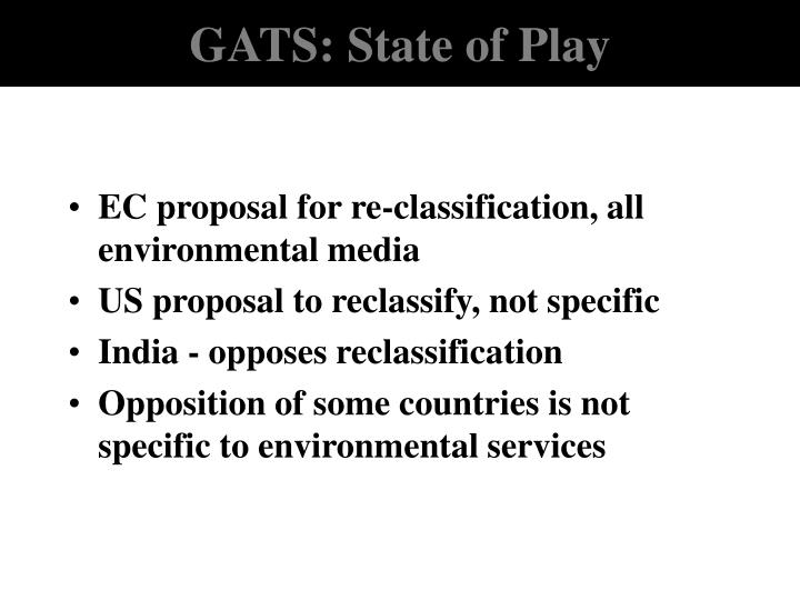 GATS: State of Play