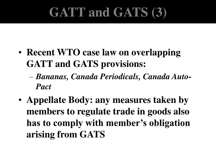GATT and GATS (3)