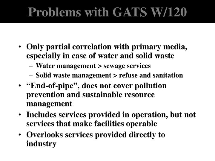Problems with GATS W/120