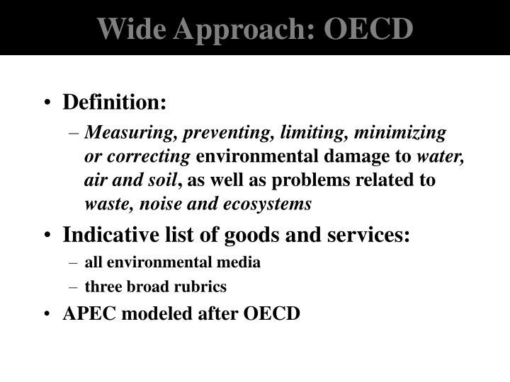 Wide Approach: OECD