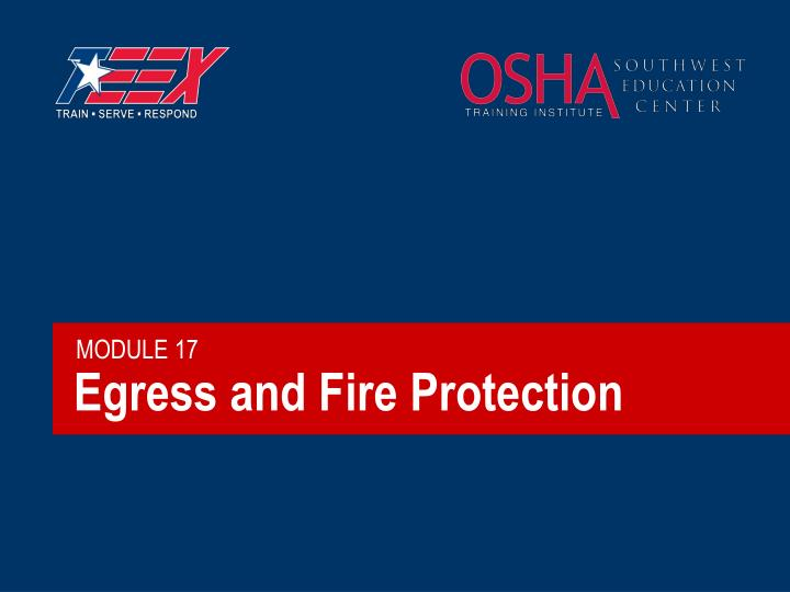 egress and fire protection n.