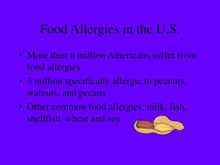 Food allergies in the u s