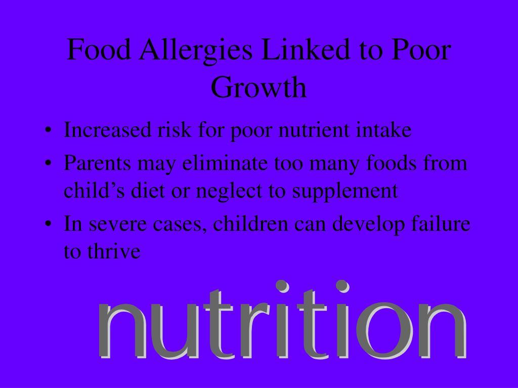 Food Allergies Linked to Poor Growth