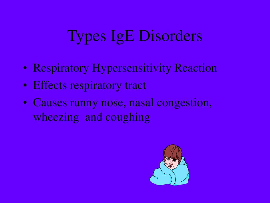 Types IgE Disorders