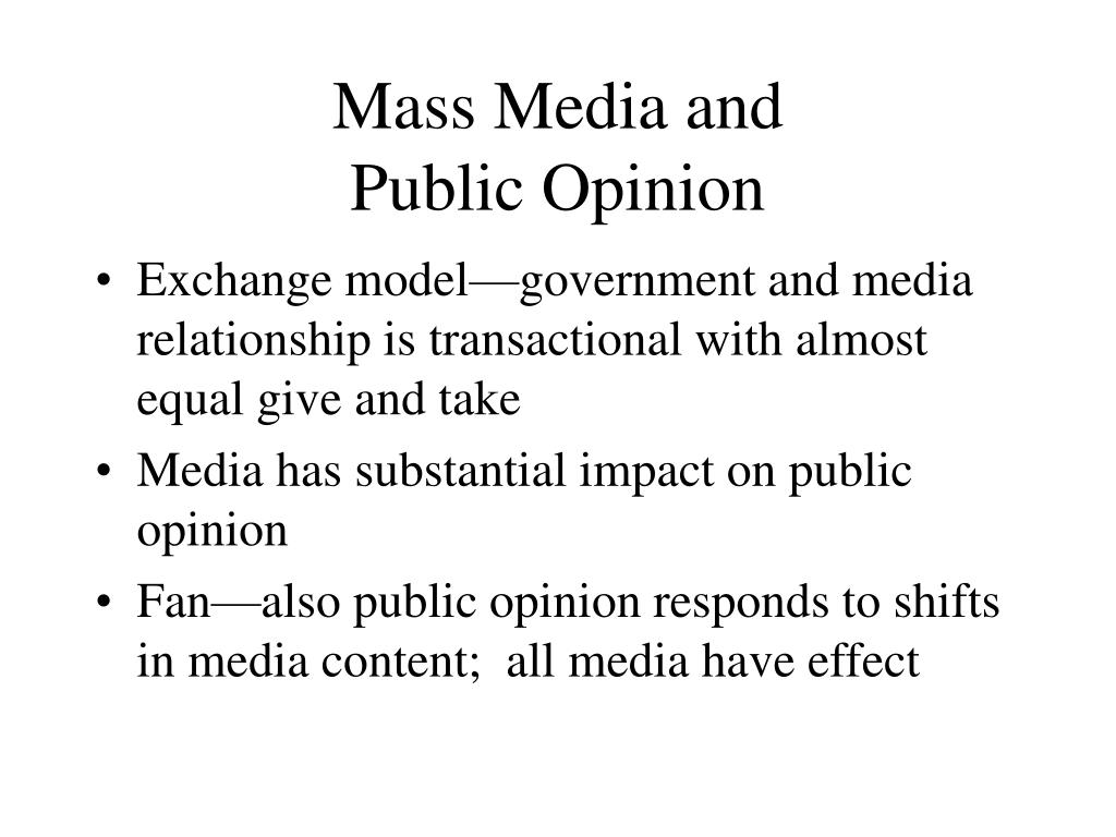 how does the media influence voters and public opinion