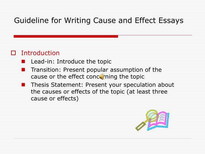 Ppt  Cause And Effect Essay Powerpoint Presentation  Id Guideline For Writing Cause And Effect Essays