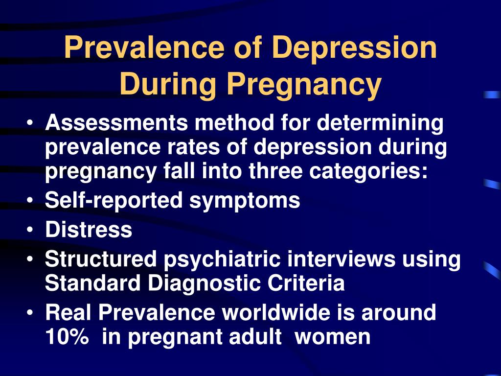 what is depression during pregnancy called