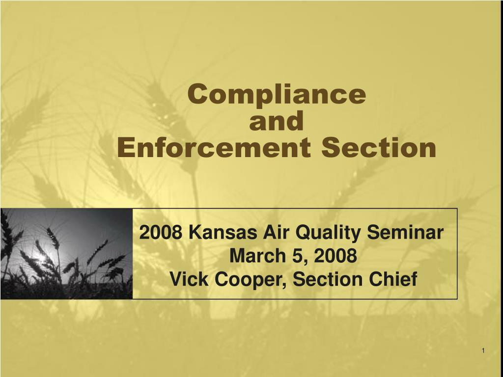 compliance and enforcement section l.
