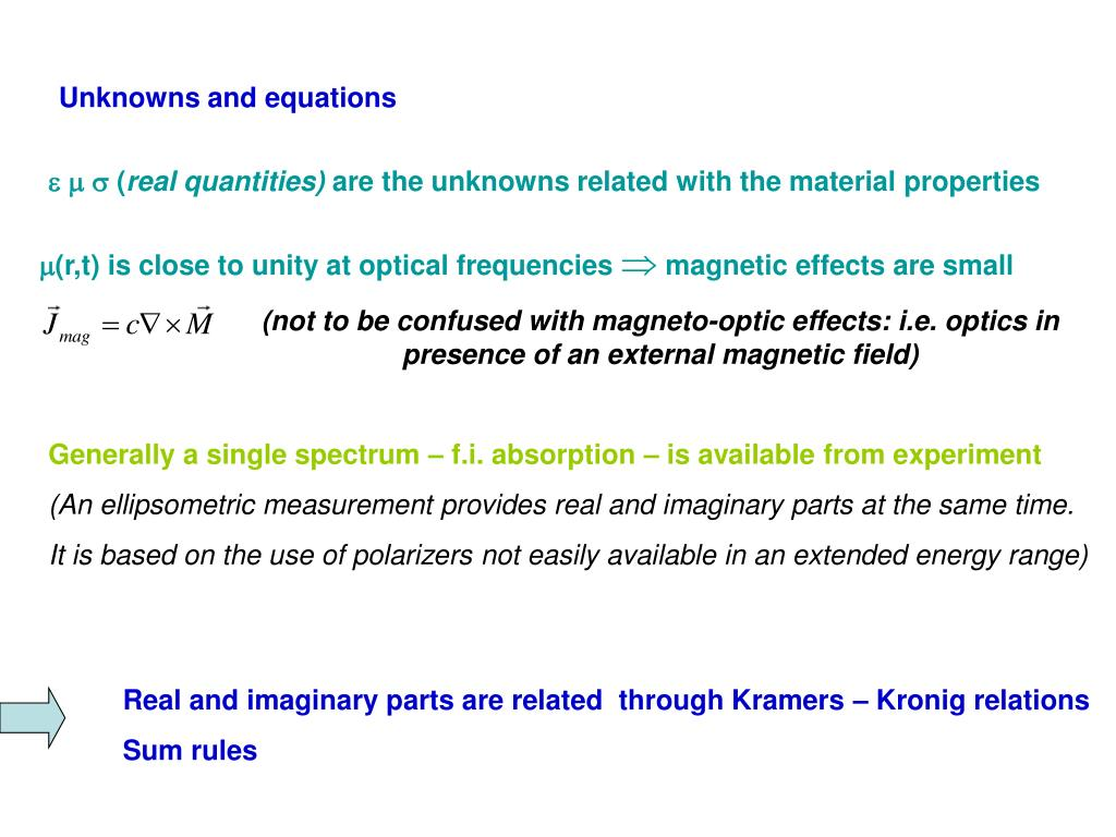Unknowns and equations