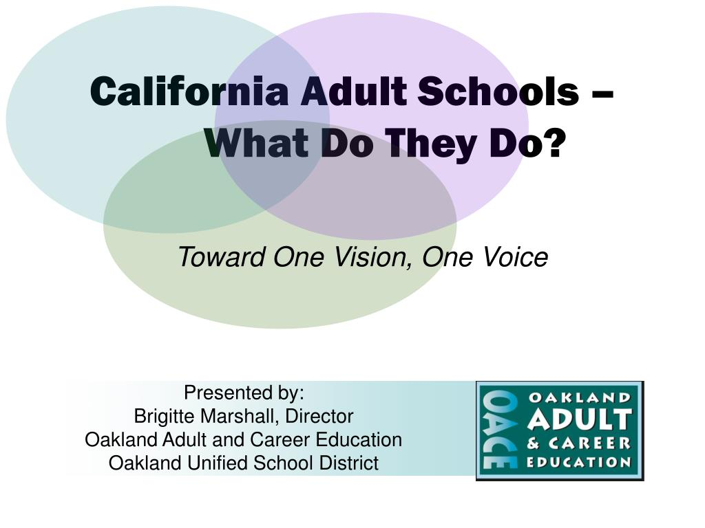 california adult schools what do they do l.