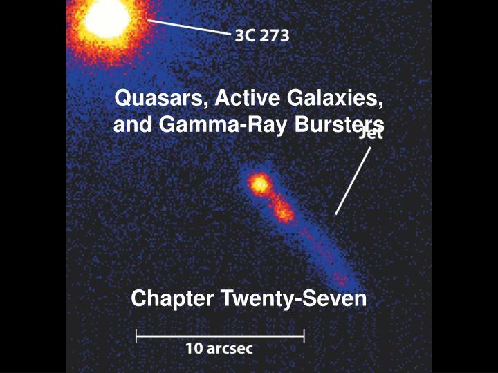 quasars active galaxies and gamma ray bursters n.