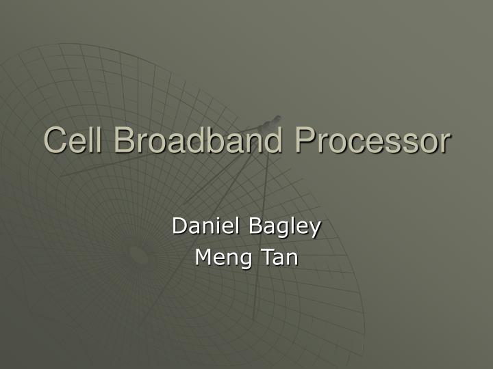cell broadband processor n.
