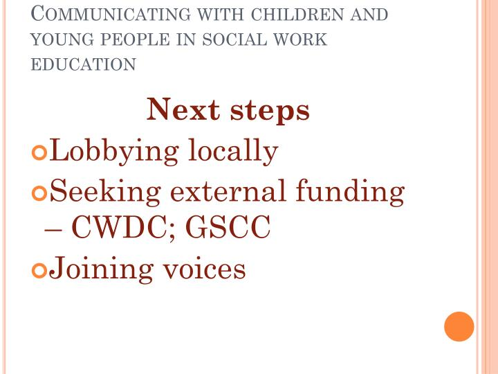 communicate with children and young people in a way that is appropriate to the individual using both Impact negatively on interactions with children and young people children are always watching for example, swearing in front of your children teaches them that bad language is appropriate children -communicate clearly when speaking to young people they will then learn to.