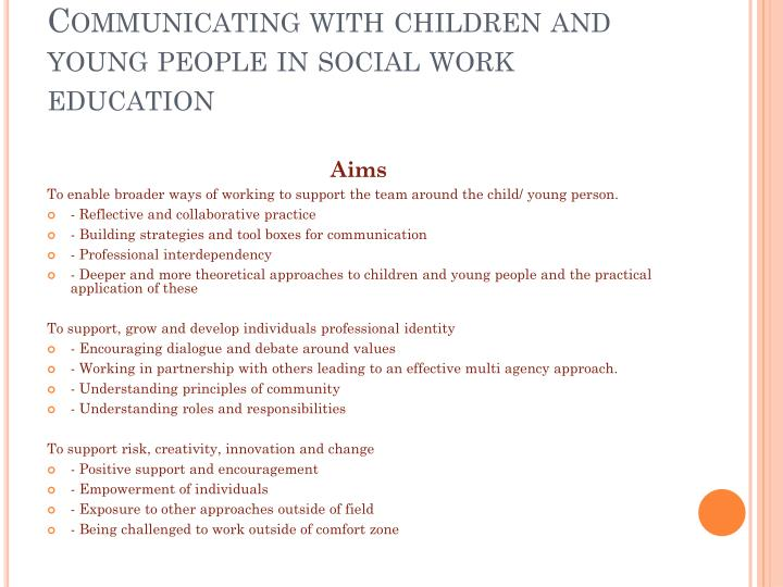 communicating with children and young people essay As in the essay, the young people get addicted to online games and they become addicted to the internet quickly internet is useful for everyone, for young and old people we communicate with each other using the internet and it really helps us to stay connected with one another.
