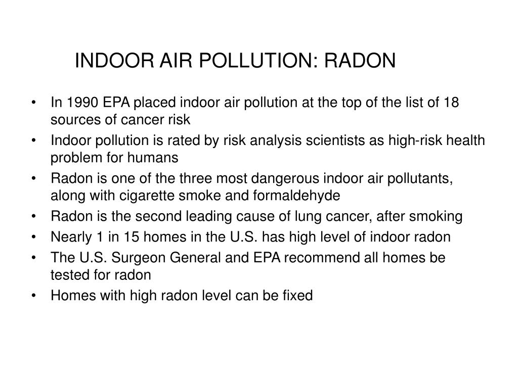 indoor air pollution radon l.