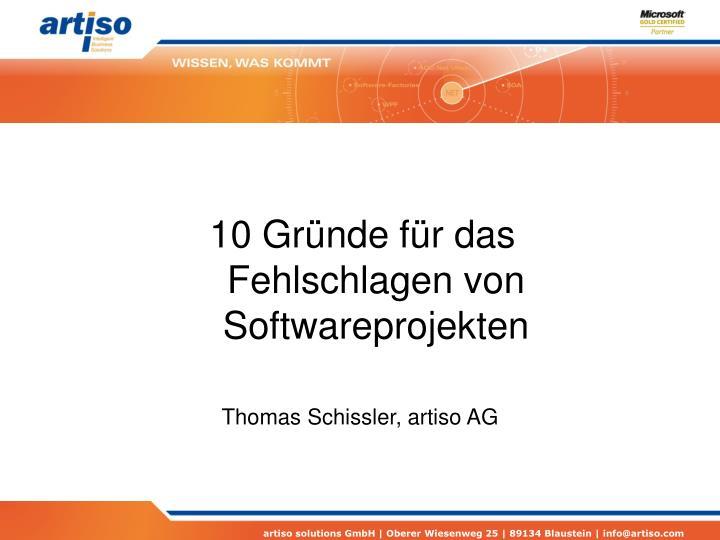 10 gr nde f r das fehlschlagen von softwareprojekten