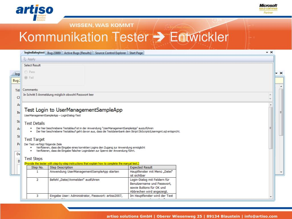 Kommunikation Tester