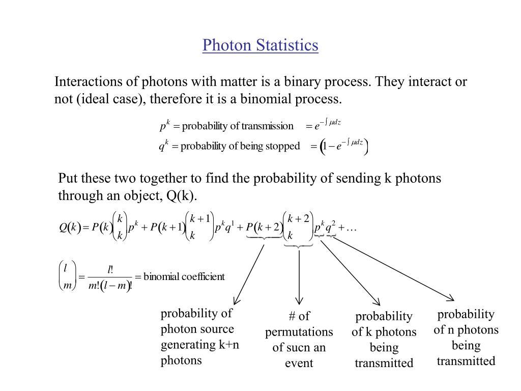 Photon Statistics
