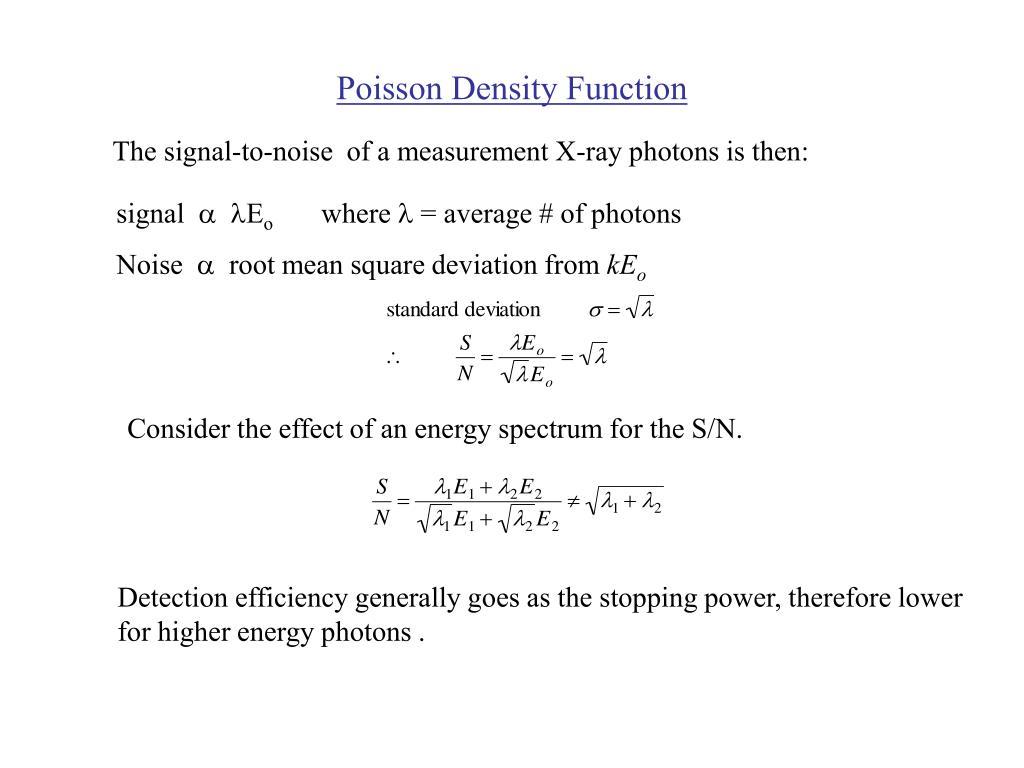 Poisson Density Function