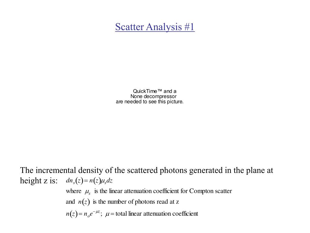 Scatter Analysis #1