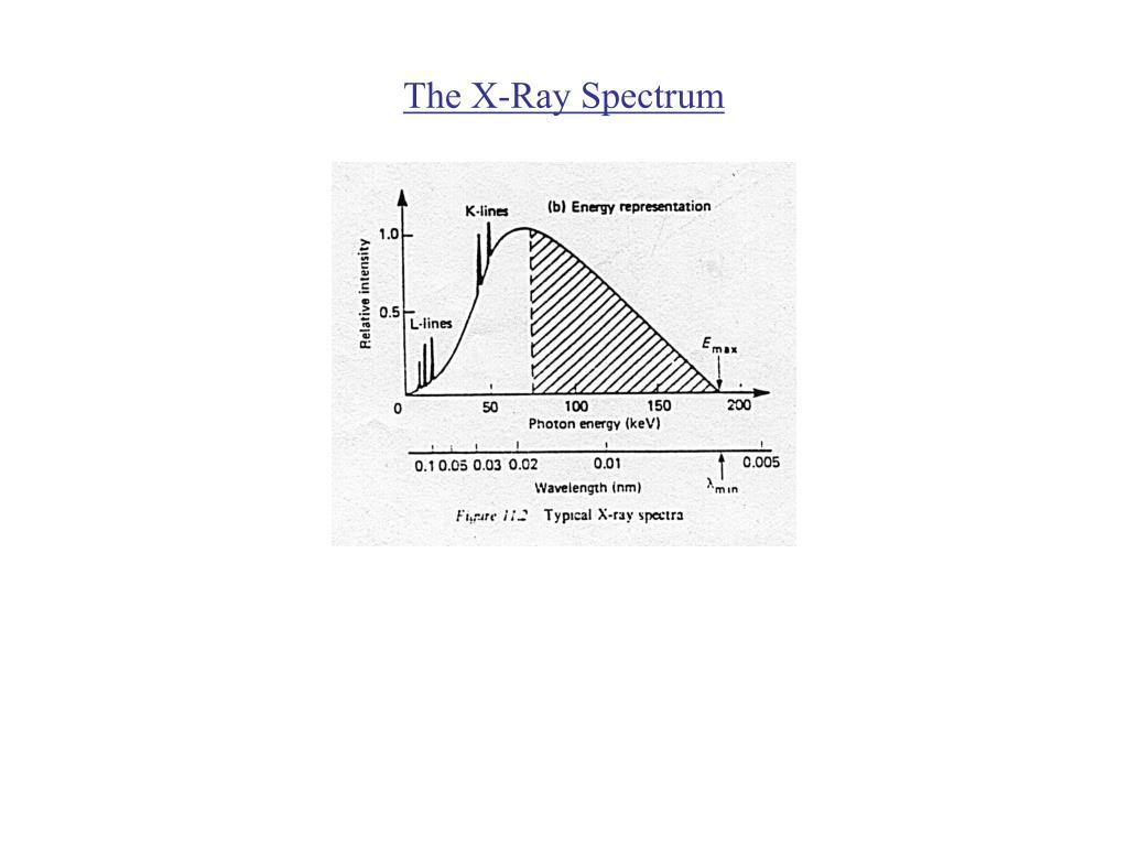 The X-Ray Spectrum