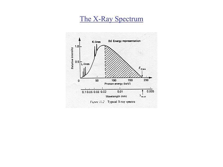 The x ray spectrum