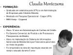 claudia montezuma