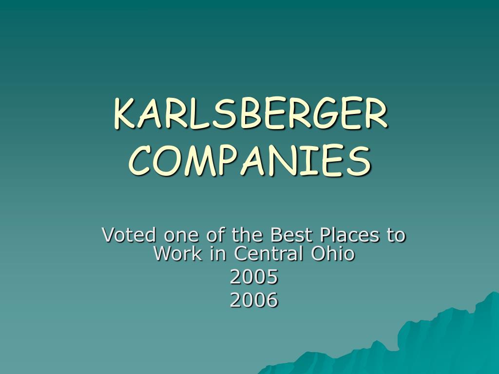 karlsberger companies l.
