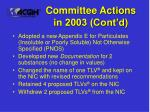 committee actions in 2003 cont d