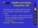 health and safety executive uk