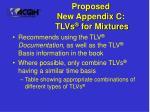 proposed new appendix c tlvs for mixtures26