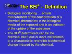 the bei definition