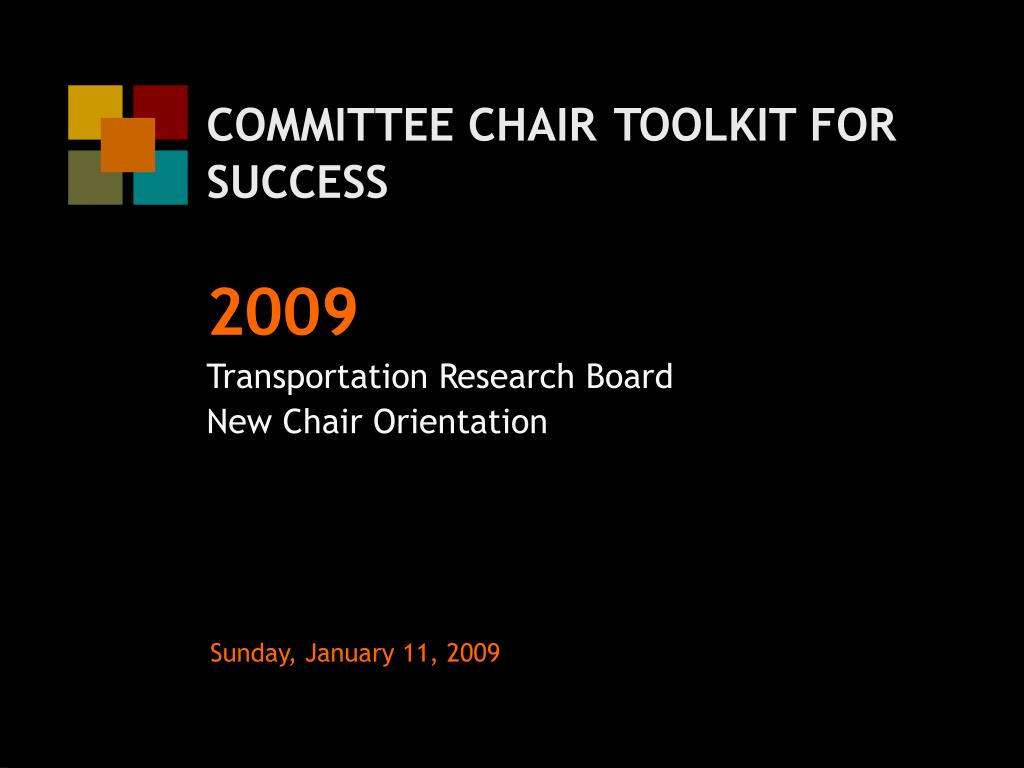 committee chair toolkit for success l.