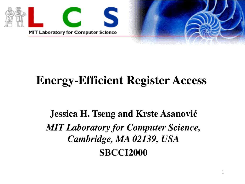 energy efficient register access l.