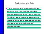 redundancy in print22