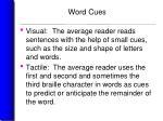 word cues