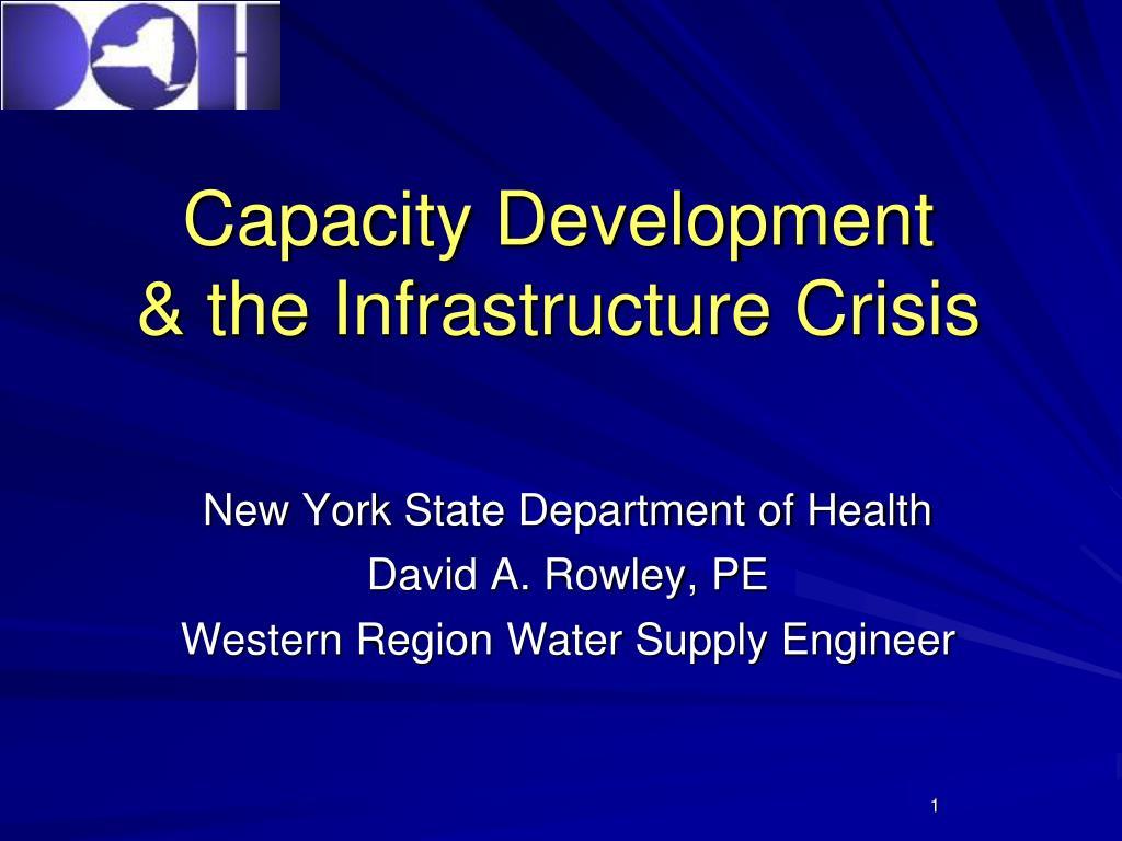 capacity development the infrastructure crisis l.