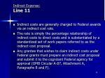 indirect expense line 11
