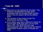 line 4b ein