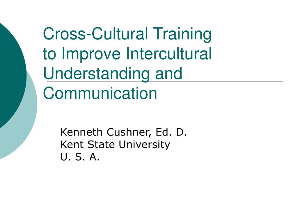 cross cultural training to improve intercultural understanding and communication