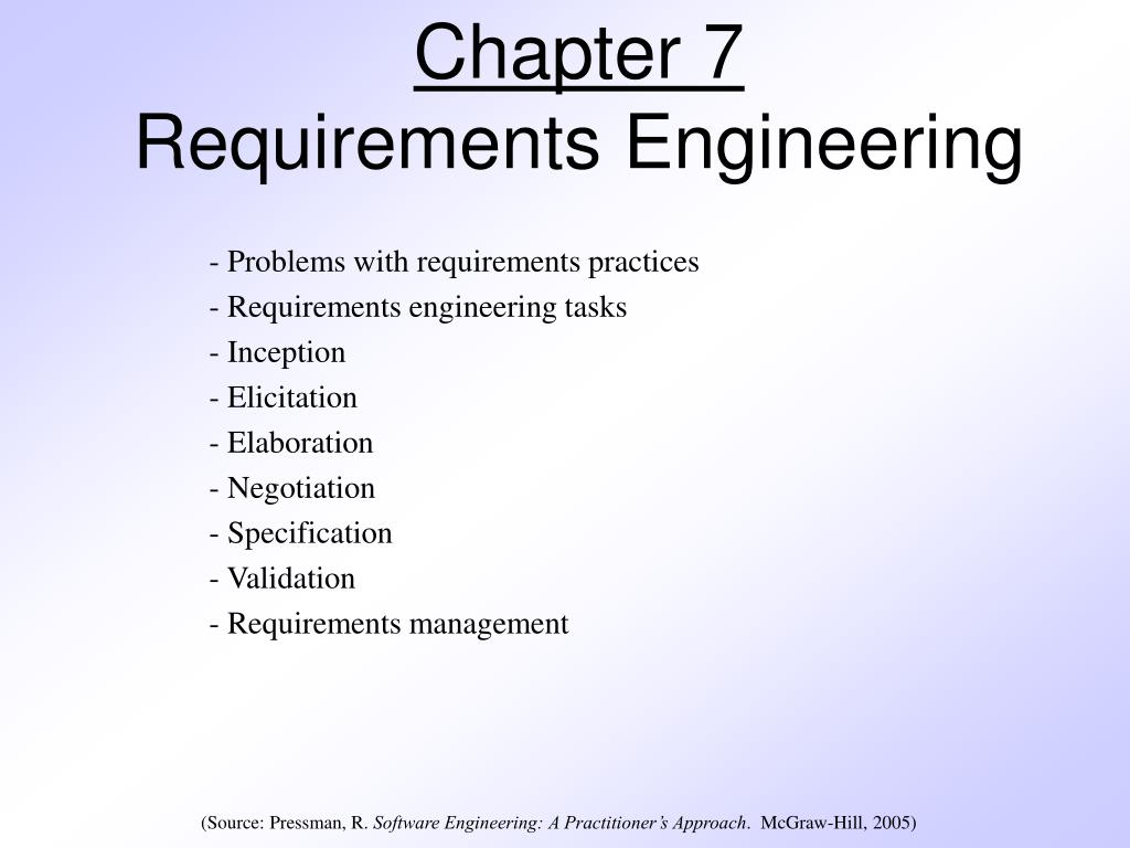 chapter 7 requirements engineering l.